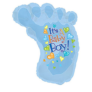 24″ BABY BOY FOOTSIE SHAPE