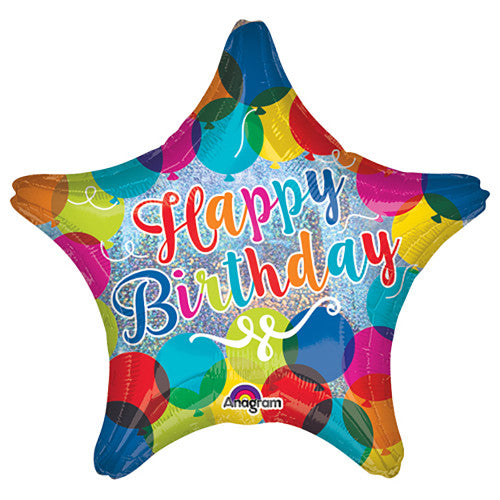 19″ HAPPY BIRTHDAY SPARKLE BALLOONS