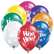 11″ WOO HOO! YOU DID IT! (6 PK)