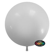 22″ GEMS BALLOON - WHITE (3 PK)