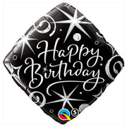 18″ BIRTHDAY ELEGANT SPARKLES & SWIRLS