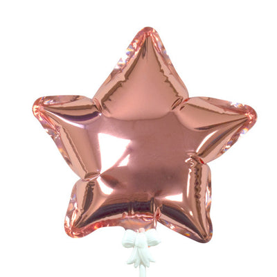 6″ SELF-INFLATING STAR - ROSE GOLD