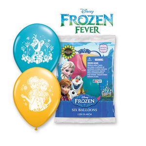 "12"" DISNEY FROZEN FEVER (6 PK)"