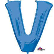 34″ LETTER V - ANAGRAM - BLUE