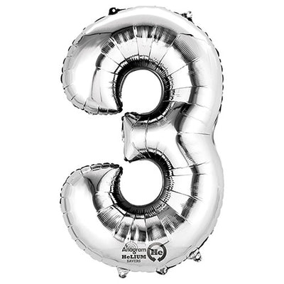 34″ NUMBER 3 - ANAGRAM - SILVER