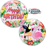 22″ BUBBLE - TROPICAL BIRTHDAY PARTY