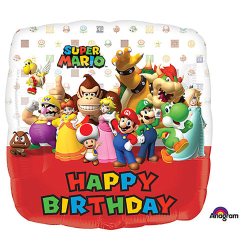 18″ MARIO BROS HAPPY BIRTHDAY