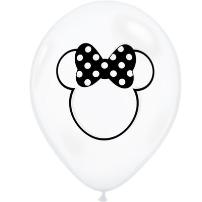 11″ MINNIE MOUSE SILHOUETTE - DIAMOND CLEAR