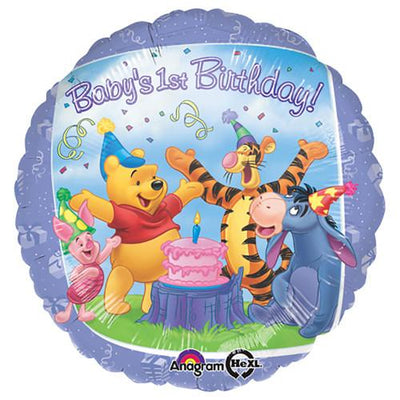 18″ POOH AND FRIENDS 1ST BIRTHDAY
