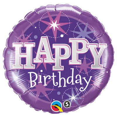 18″ BIRTHDAY PURPLE SPARKLE