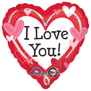 18″ I LOVE YOU DOTTED HEARTS