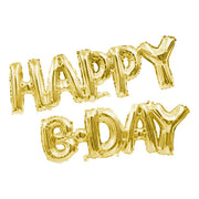 "14"" HAPPY B-DAY - GOLD (AIR-FILL ONLY)"