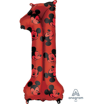 34″ NUMBER 1 RED MICKEY MOUSE