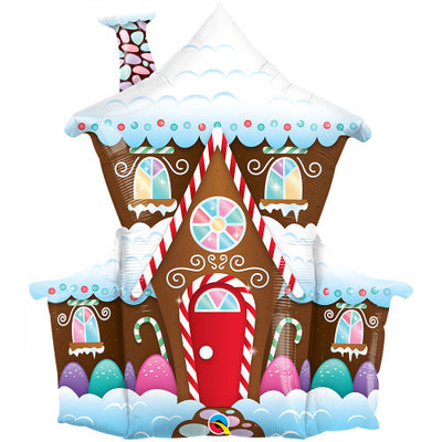37″ DECORATED GINGERBREAD HOUSE