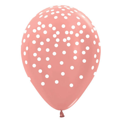 11″ BETALLATEX WHITE CONFETTI - METALLIC ROSE GOLD