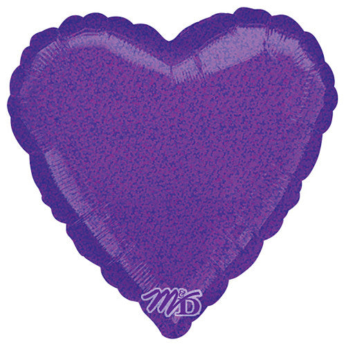 18″ HEART - DAZZLER PURPLE