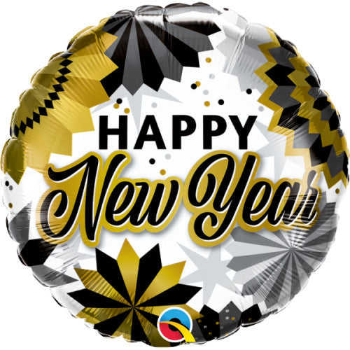 18″ NEW YEAR BLACK & GOLD FANS