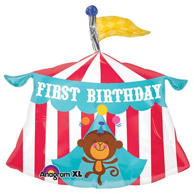 23″ FISHER PRICE CIRCUS TENT 1ST BIRTHDAY