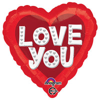 18″ LOVE YOU SILVER HEARTS