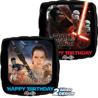 18″ STAR WARS THE FORCE AWAKENS HAPPY BIRTHDAY