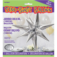 39″ 12 POINT JUMBO STAR-BURST - SILVER (AIR-FILL ONLY)