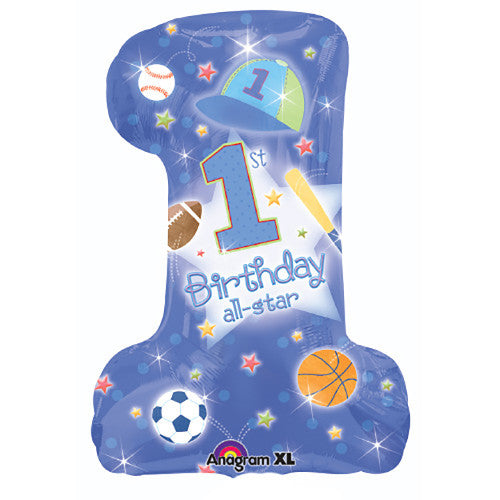 28″ 1ST BIRTHDAY ALL-STAR BOY