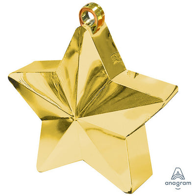 6 oz. BALLOON STAR WEIGHT - GOLD