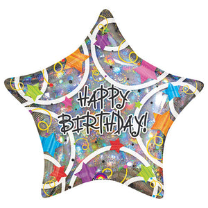 19″ HAPPY BIRTHDAY STARS