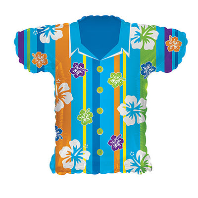 30″ BLUE HAWAIIAN SHIRT