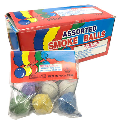 SMOKE BALLS - ASSORTED COLORS (12 BGS)