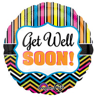 18″ GET WELL STRIPE AND CHEVRON
