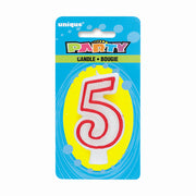 NUMBER 5 DELUXE SHAPE BIRTHDAY CANDLE