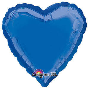 18″ HEART - DARK BLUE