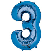 34″ NUMBER 3 - ANAGRAM - BLUE