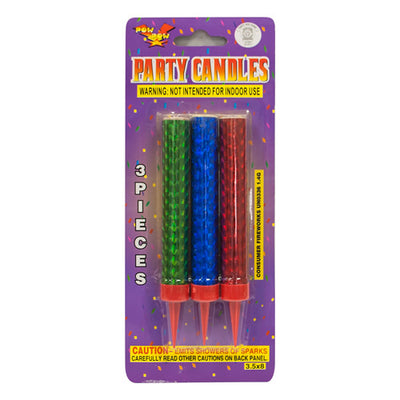 CAKE SPARKLER CANDLES - TRI-COLOR