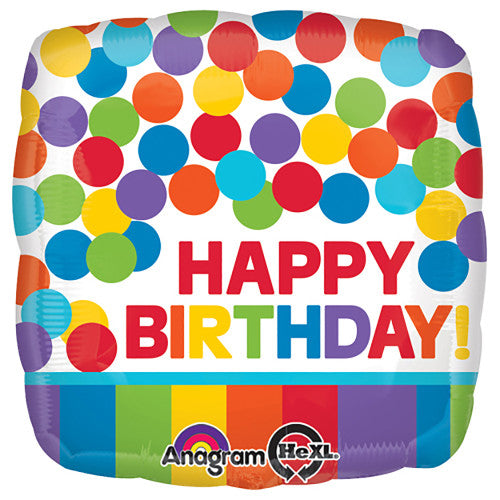 18″ PRIMARY RAINBOW BIRTHDAY
