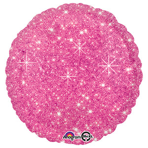18″ CIRCLE - FAUX SPARKLE HOT PINK