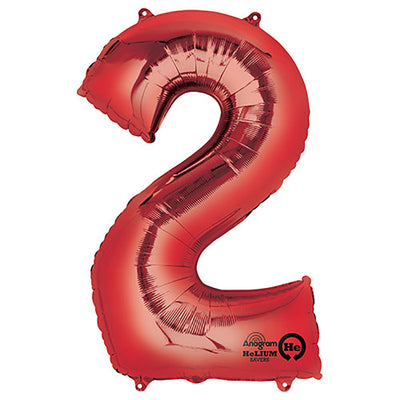 34″ NUMBER 2 - ANAGRAM - RED