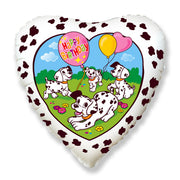 18″ HAPPY BIRTHDAY DALMATIANS - WHITE