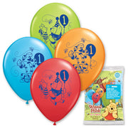 12″ POOH HAPPY 1ST BIRTHDAY (6 PK)