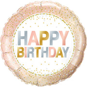 18″ BIRTHDAY METALLIC DOTS