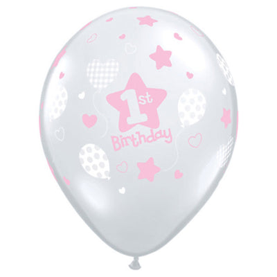 11″ 1ST BIRTHDAY SOFT PATTERNS - GIRL