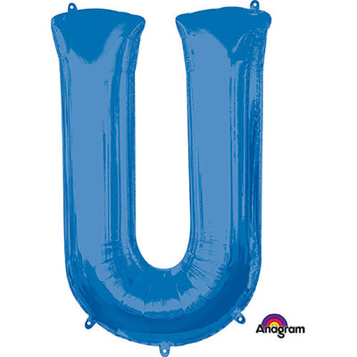 34″ LETTER U - ANAGRAM - BLUE