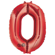 34″ NUMBER 0 - ANAGRAM - RED