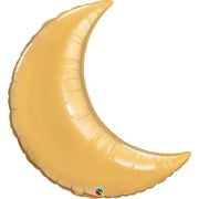 35″ CRESCENT MOON - METALLIC GOLD