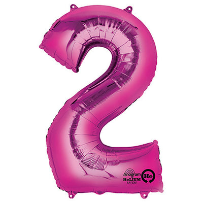34″ NUMBER 2 - ANAGRAM - PINK