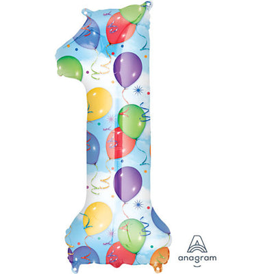 34″ NUMBER 1 - ANAGRAM - BALLOONS & STREAMERS