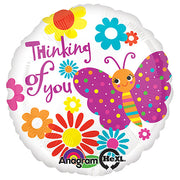 18″ CUTE BUTTERFLY THINKING OF YOU