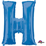 34″ LETTER H - ANAGRAM - BLUE