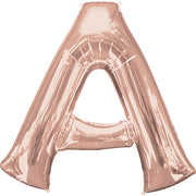 "34"" LETTER A - ANAGRAM - ROSE GOLD"